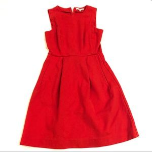 MADEWELL Red Fit and Flare Dress